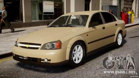 Chevrolet Evanda para GTA 4 left