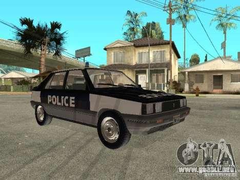 Renault 11 Police para GTA San Andreas vista posterior izquierda