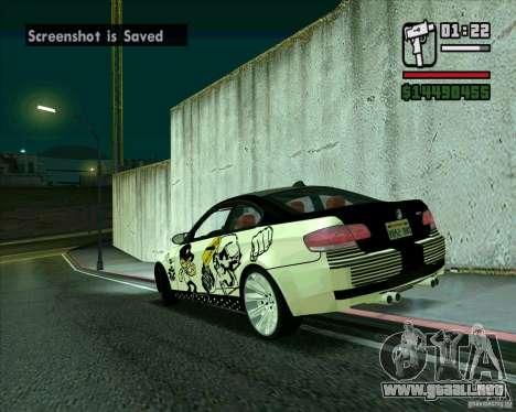 BMW M3 (E92) 2007 para GTA San Andreas left
