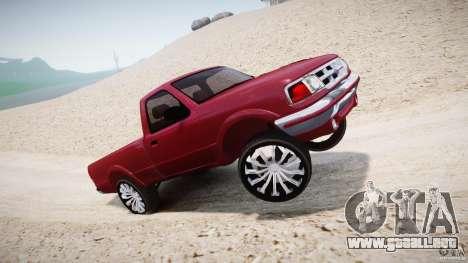 Ford Ranger para GTA 4 vista desde abajo