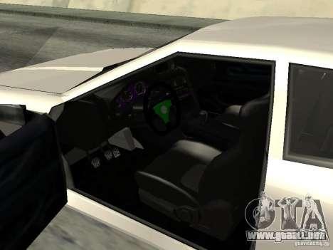 Elegy 29-13 para GTA San Andreas vista hacia atrás