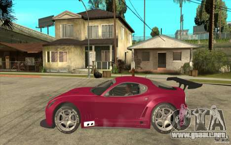 Alfa Romeo 8C GT3 RSX para GTA San Andreas left