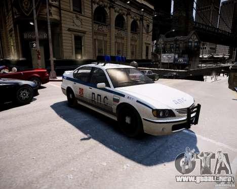 Russian Police Patrol para GTA 4 left