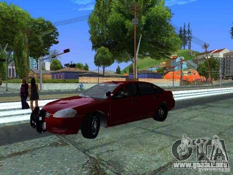 Chevrolet Impala Unmarked para GTA San Andreas vista posterior izquierda