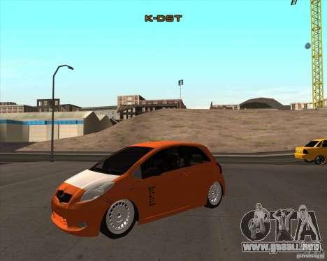 Toyota Yaris II Pac performance para la visión correcta GTA San Andreas