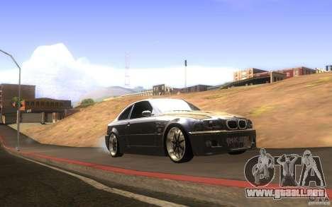 BMW M3 E46 V.I.P para visión interna GTA San Andreas
