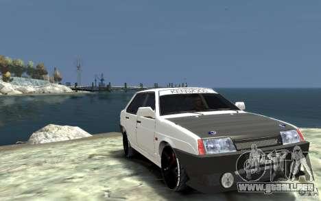 VAZ 21099 para GTA 4 vista hacia atrás