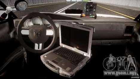 Dodge Charger NYPD 2012 [ELS] para GTA 4 visión correcta