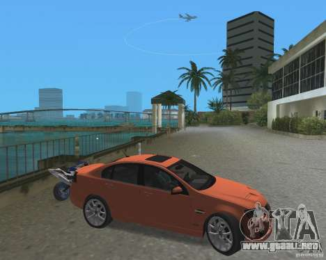 Pontiac G8 GXP para GTA Vice City left