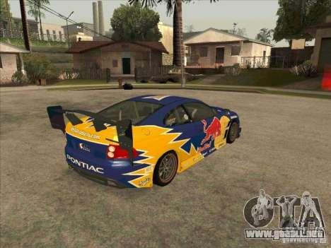 Pontiac GTO Red Bull para la visión correcta GTA San Andreas