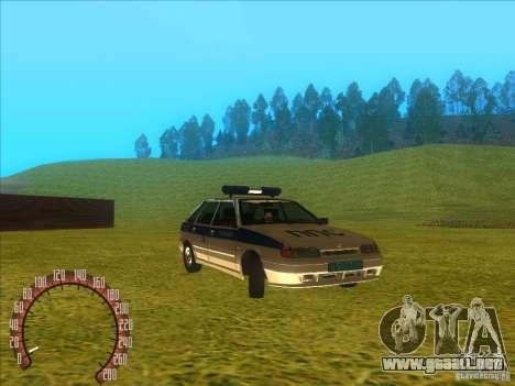 Policía rusa Ваз 2114 para la visión correcta GTA San Andreas