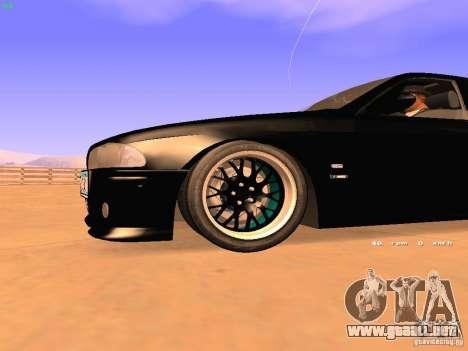 BMW M5 E39 Stanced para visión interna GTA San Andreas