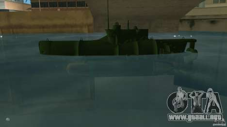 Seehund Midget Submarine skin 1 para GTA Vice City left