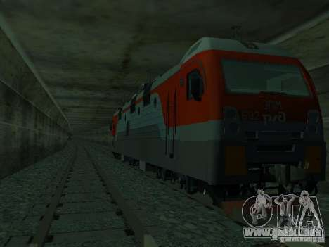ÈP1M-392 OJSC «RUSSIAN RAILWAYS» para vista lateral GTA San Andreas