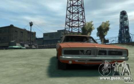 Dodge Charger General Lee v1.1 para GTA 4 vista hacia atrás