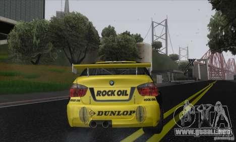 BMW 320i GRID para GTA San Andreas vista posterior izquierda