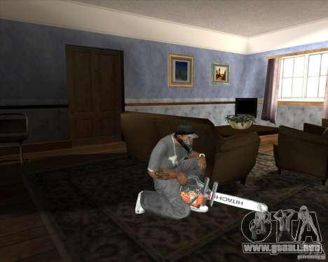 Motosierra nueva para GTA San Andreas tercera pantalla