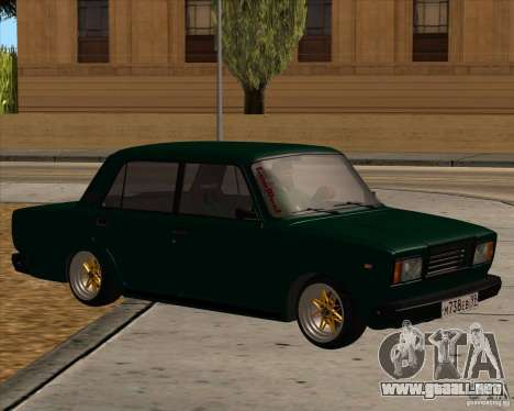 VAZ 2107 para la visión correcta GTA San Andreas