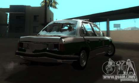 BMW E30 Sedan Police para la visión correcta GTA San Andreas