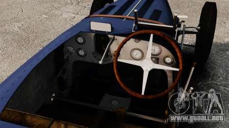 Bugatti Type 51 para GTA 4 vista hacia atrás