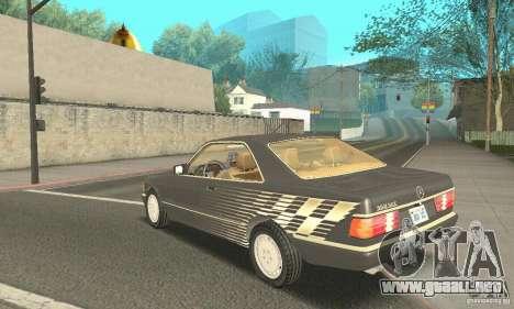 Mercedes-Benz W126 560SEC para visión interna GTA San Andreas