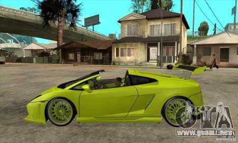 Lamborghini Gallardo LP560-4 Hamann para GTA San Andreas left
