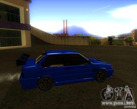 VAZ 2115 coupe para GTA San Andreas vista posterior izquierda