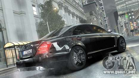 Mercedes-Benz Brabus SV12 R Biturbo 800 2011 para GTA 4 left