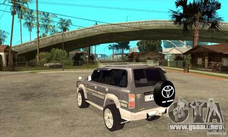Toyota Land Cruiser 80 para GTA San Andreas vista posterior izquierda