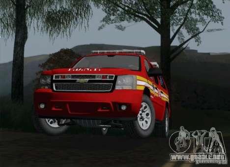 Chevrolet Suburban EMS Supervisor 862 para la visión correcta GTA San Andreas
