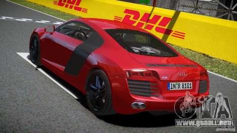 Audi R8 V8 2008 v2.0 para GTA 4 visión correcta