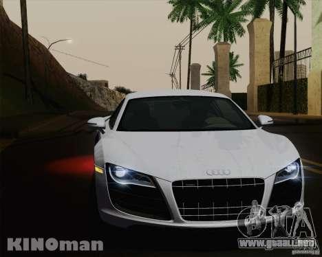 Audi R8 v10 2010 para GTA San Andreas interior