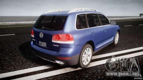 Volkswagen Touareg 2008 TDI para GTA 4 vista superior