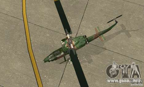 AH-1 super cobra para GTA San Andreas vista hacia atrás