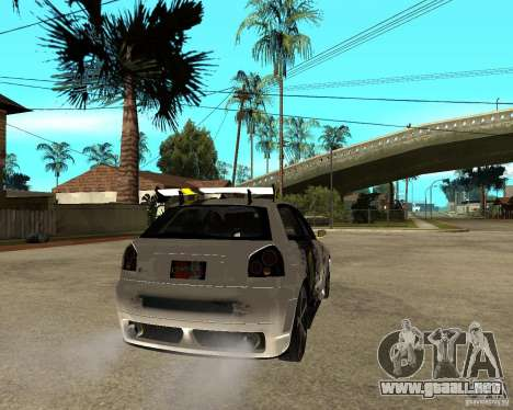 Audi S3 Monster Energy para GTA San Andreas vista posterior izquierda