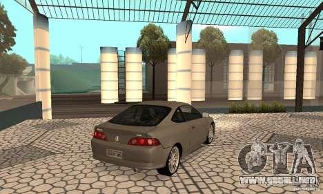 Acura RSX New para GTA San Andreas vista posterior izquierda