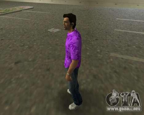 Camisa violeta para GTA Vice City segunda pantalla