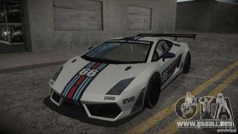 Lamborghini Gallardo LP560-4 GT3 para vista inferior GTA San Andreas