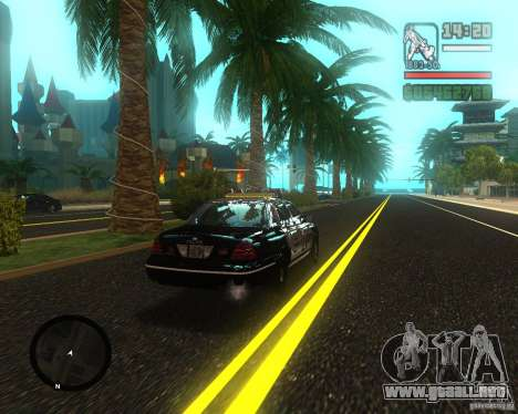 Real palms v2.0 para GTA San Andreas segunda pantalla