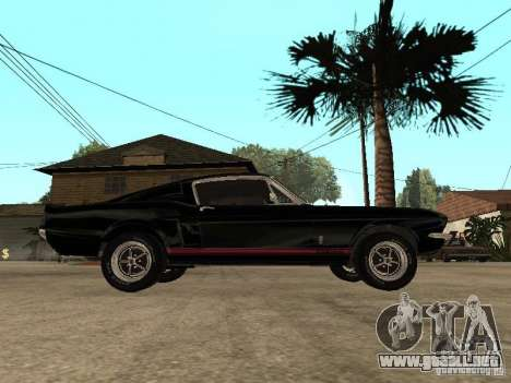 Shelby Mustang GT 500 para GTA San Andreas left