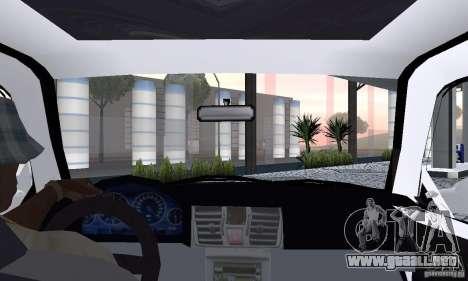 Volkswagen Jetta FnF para GTA San Andreas vista hacia atrás