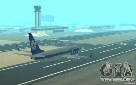 Boeing 737 LOT Polish Airlines para el motor de GTA San Andreas