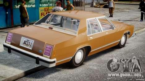 Ford Crown Victoria 1983 para GTA 4 Vista posterior izquierda