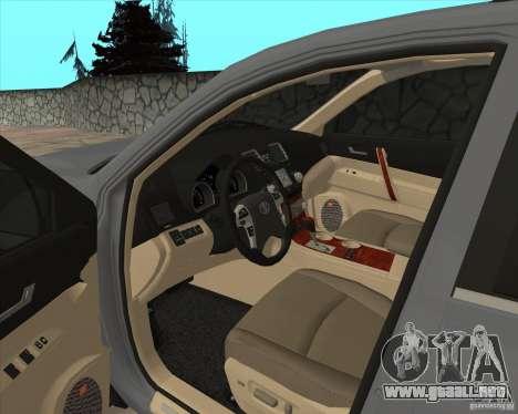 Toyota Highlander para vista lateral GTA San Andreas