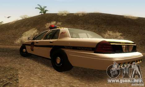 Ford Crown Victoria Pennsylvania Police para GTA San Andreas left