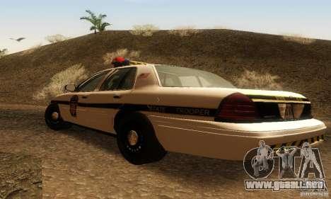 Ford Crown Victoria Pennsylvania Police para GTA San Andreas left
