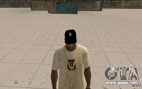 Casquillo newyorkyankiys negro para GTA San Andreas segunda pantalla