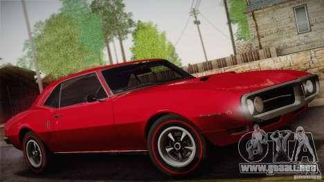 Pontiac Firebird 400 (2337) 1968 para las ruedas de GTA San Andreas