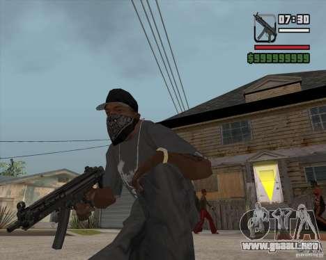 New MP5 (Submachine gun) para GTA San Andreas tercera pantalla