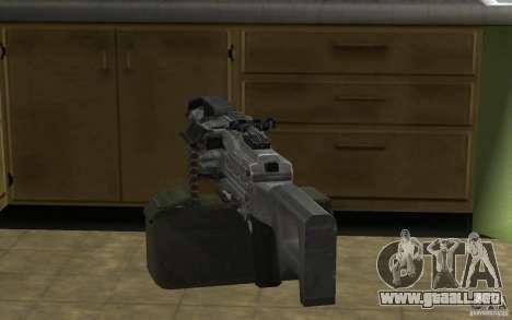 Pechenegos PKP ametralladora para GTA San Andreas sucesivamente de pantalla
